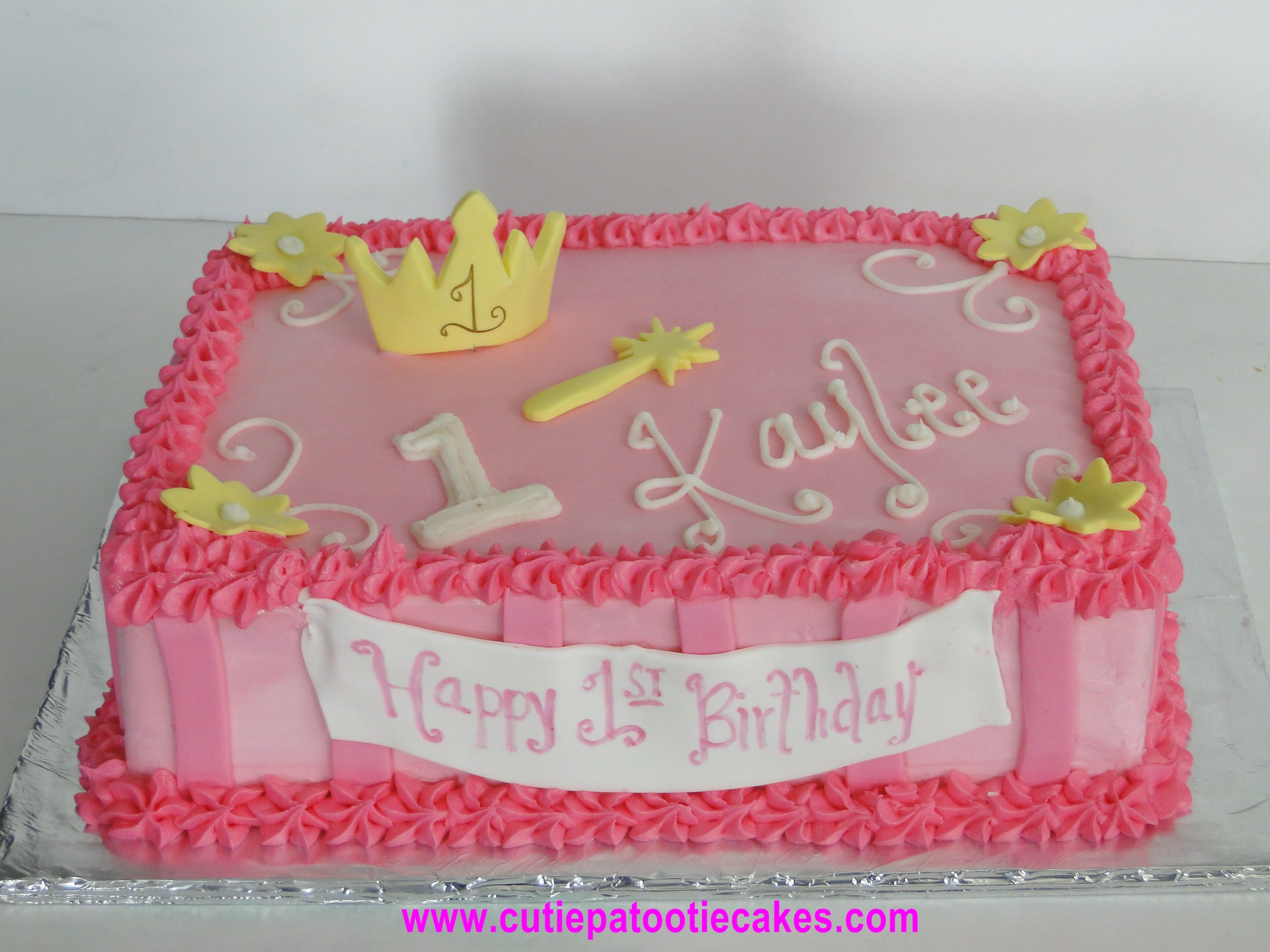 Princess Sheet Cake 1 Year Old Birthday Cake Childrens Birthday