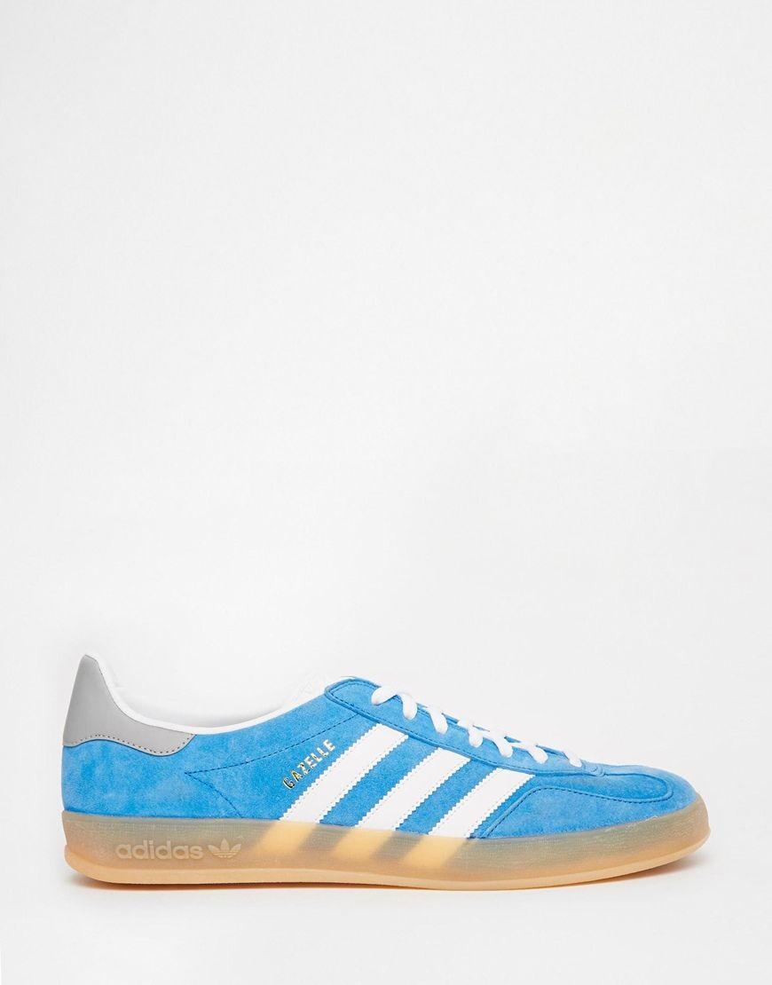 Image 1 of adidas Originals Gazelle Indoor Blue Sneakers