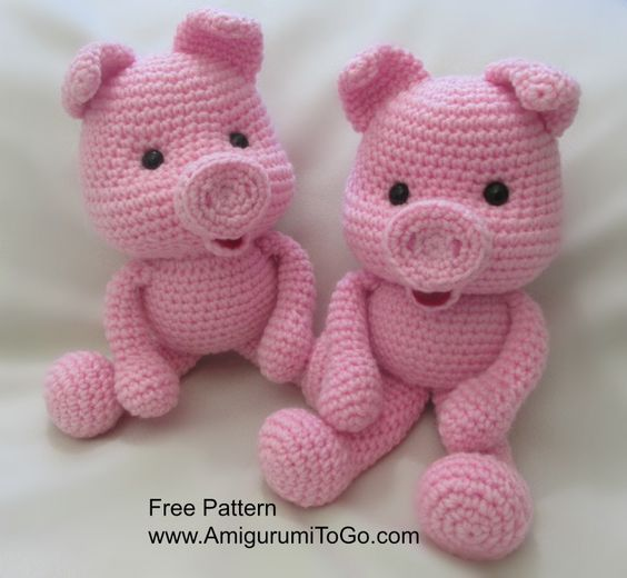 Crochet Along Pig ~ Amigurumi To Go: | Crochet | Pinterest