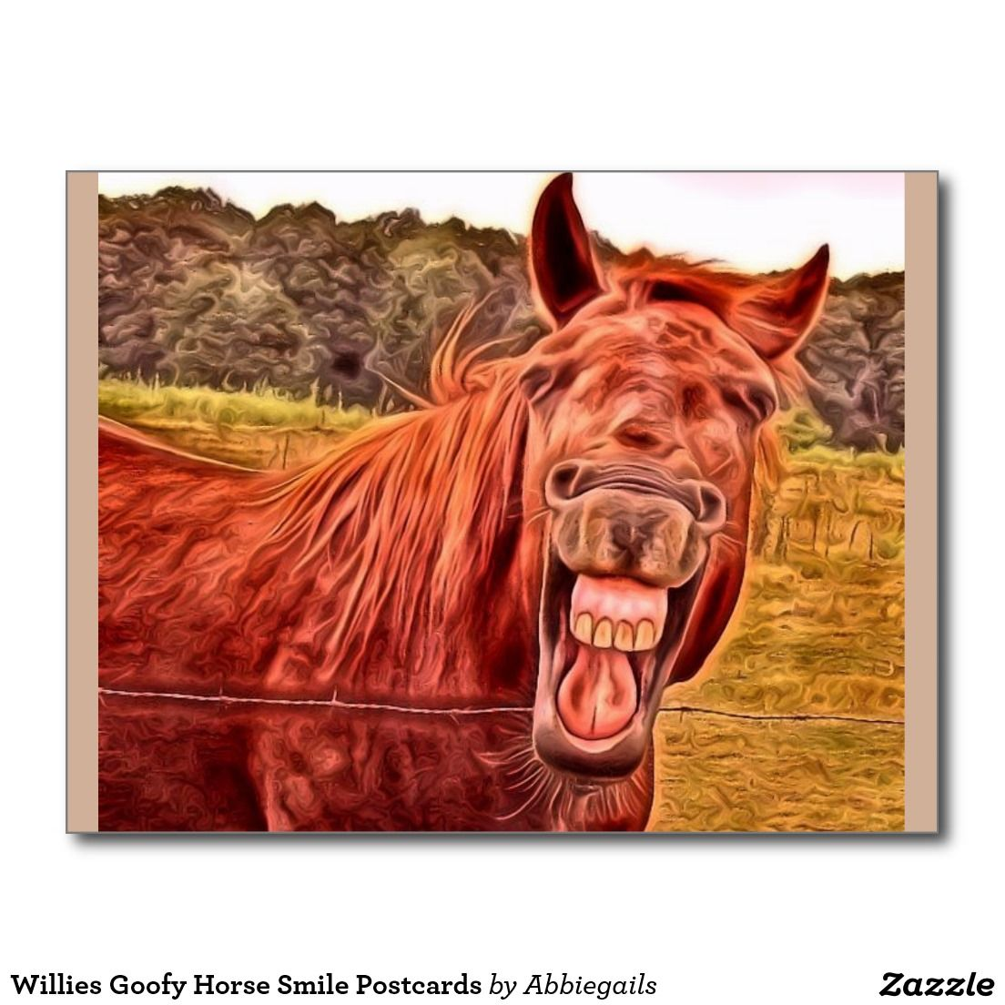 Willies Goofy Horse Smile Postcards