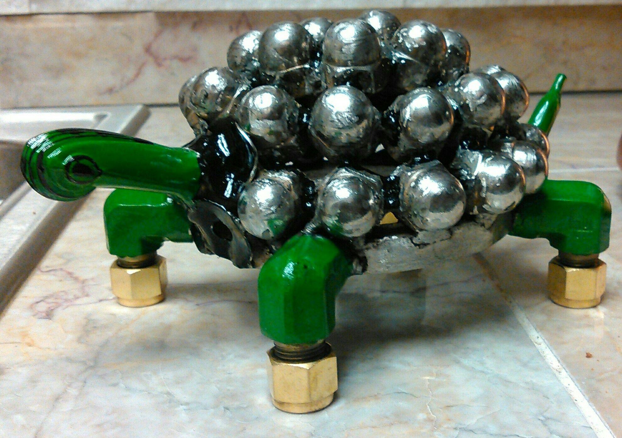 Scrap metal turtle art sculpture Scrap metal art, Metal