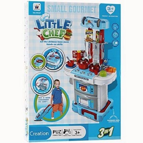 Shop8 Small Gourmet Little Chef Kitchen Toy Set 41 X 24 X 71 Cm Y7q11 Toy Kitchen Set Little Chef Toy Kitchen