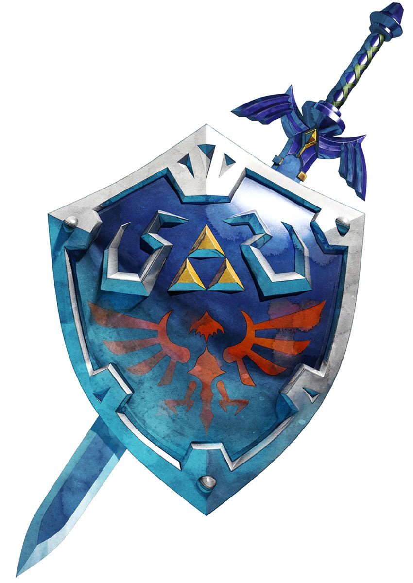 Master Sword Hylian Shield From The Legend Of Zelda Skyward Sword