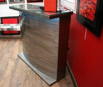 comptoir metal | metals, bar and design - Meuble Bar Design Contemporain