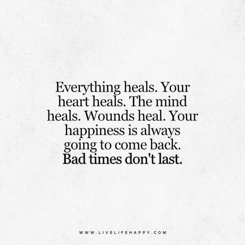 Bad times happiness healing | ❤️Quotes | Pinterest | Happiness ...