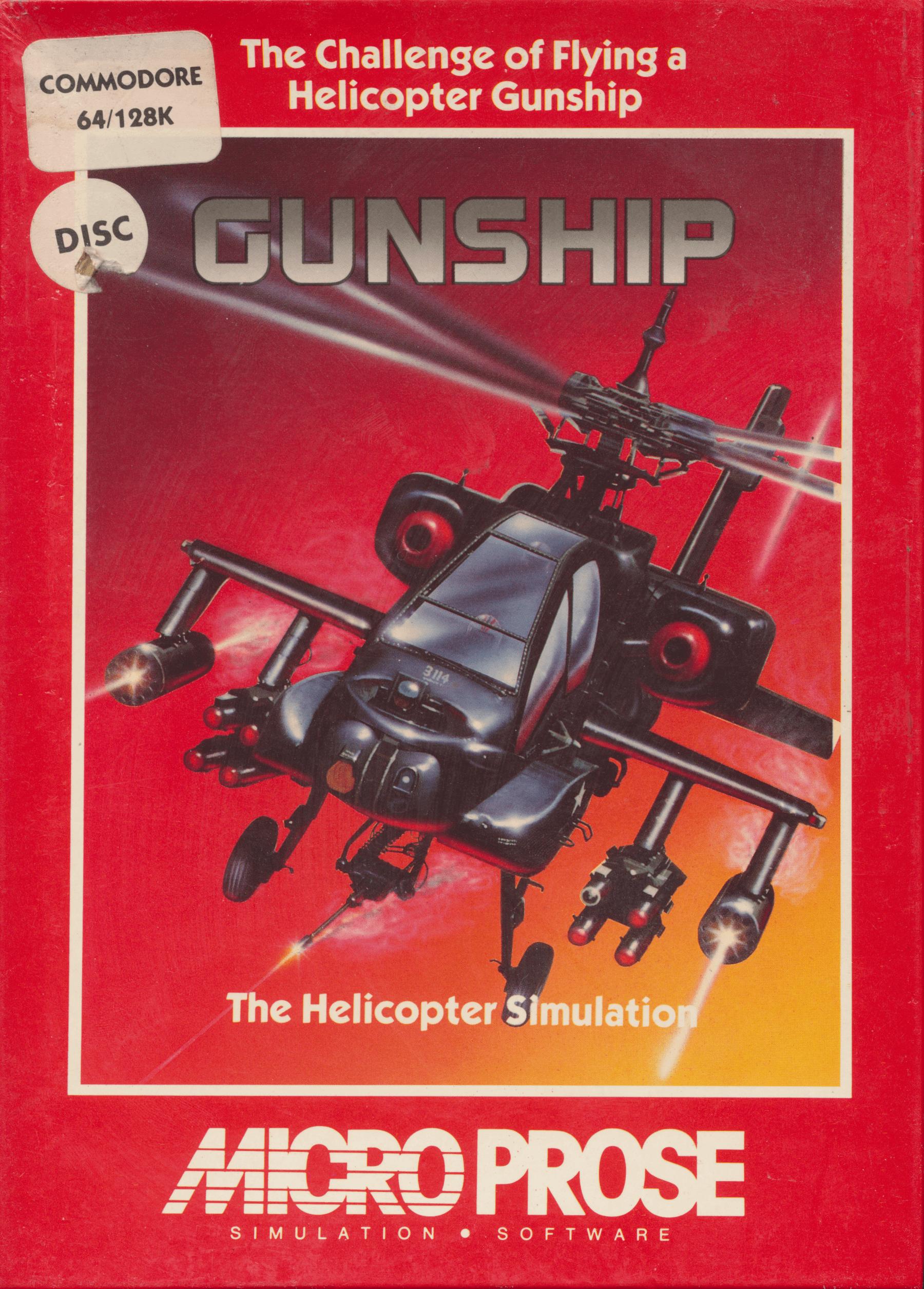 Gunship by Microprose - Box Art