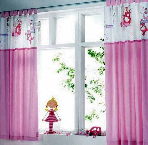 Bedroom Curtain Ideas for Girls   Pink Curtains Girls Bedroom ...