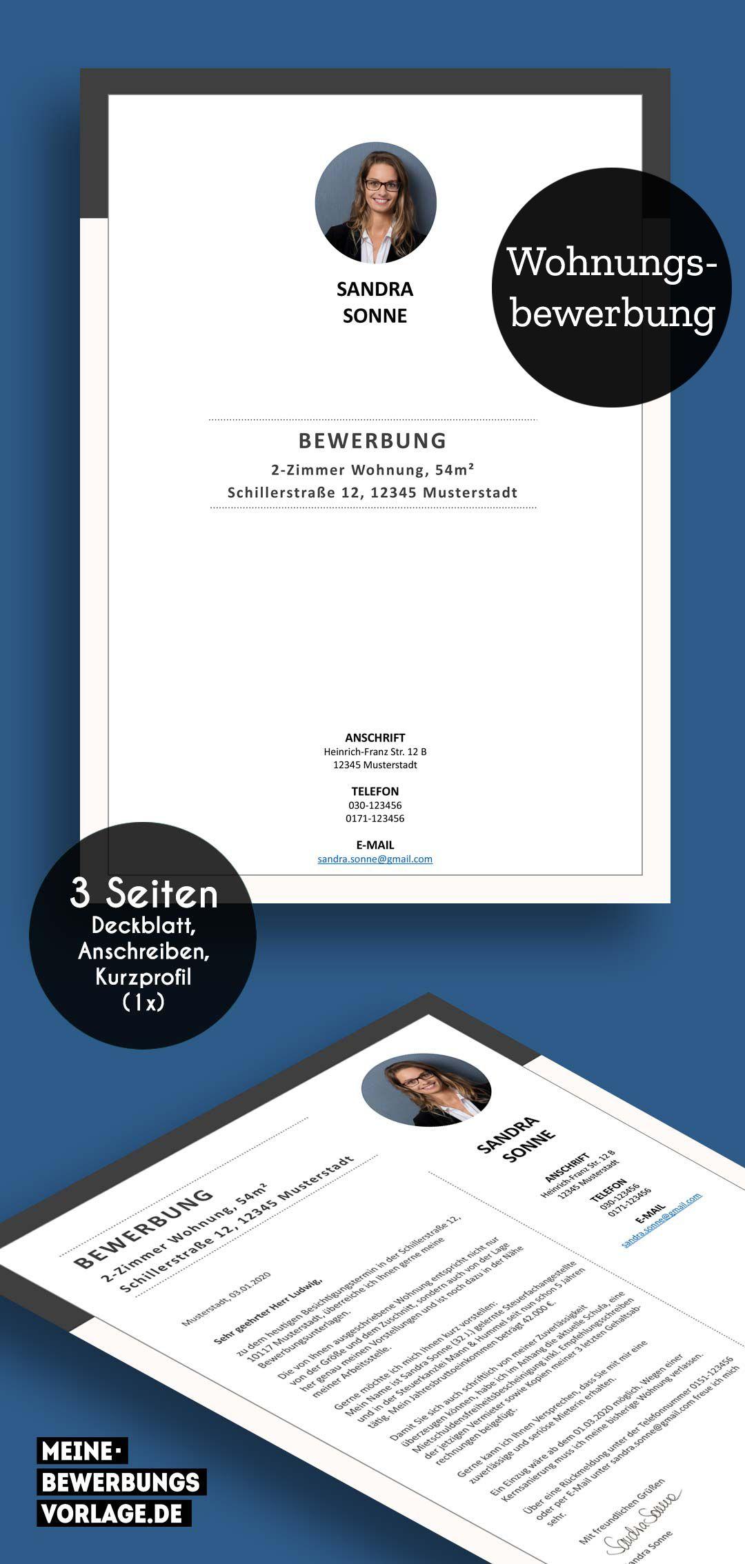 Wohnungsbewerbung In 2020 Bewerbung Bewerbung Schreiben Flugblatt Design