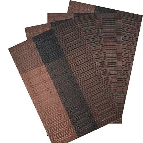 Ivalue Bamboo Placemats For Dining Table Set Of 4 Vinyl Mats