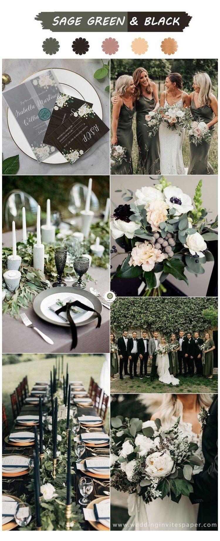 winter wedding black bridesmaid dresses -   18 sage green bridesmaid dresses fall ideas