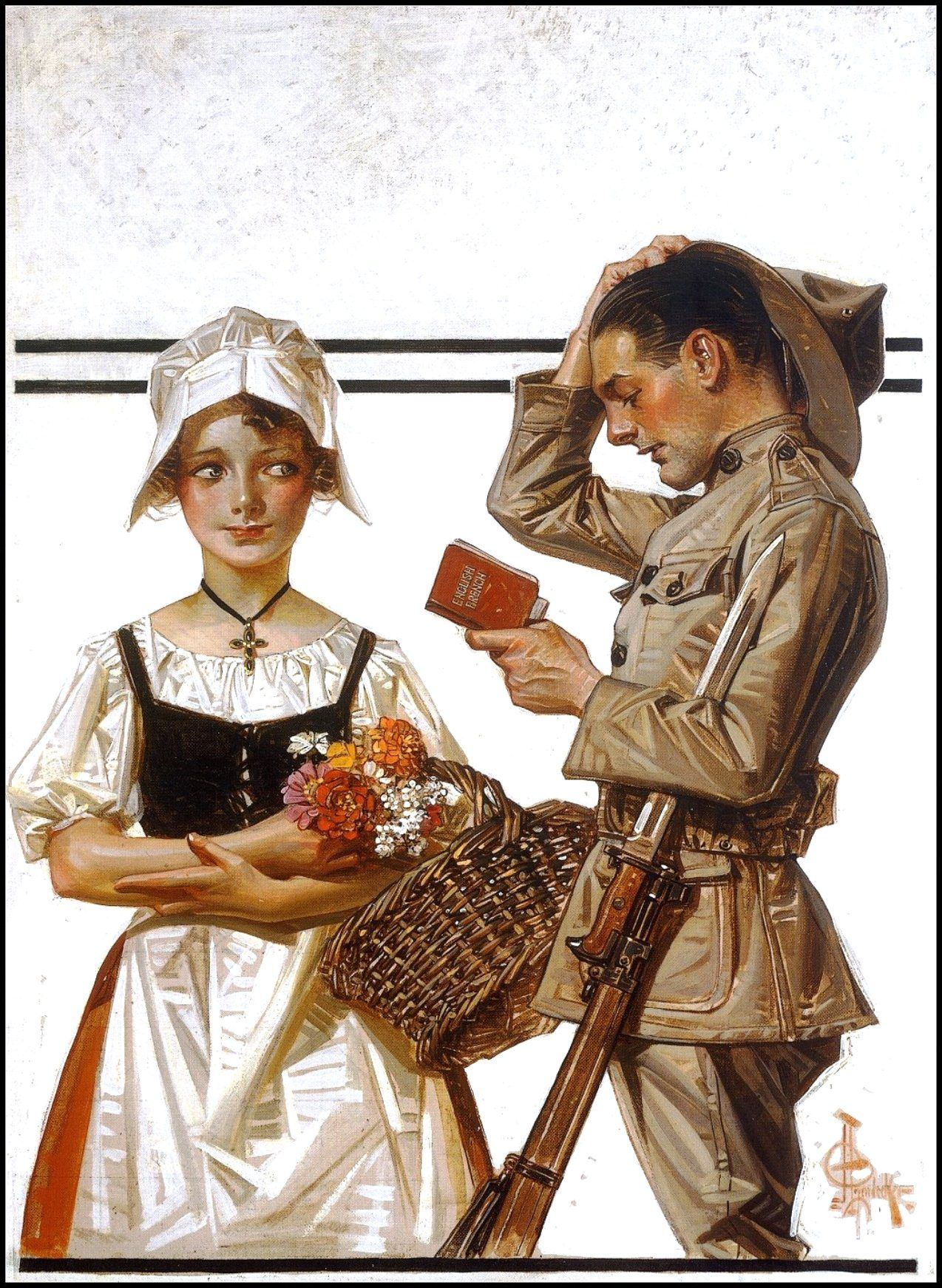 1917 World War I  - Amerian soldier and french girl