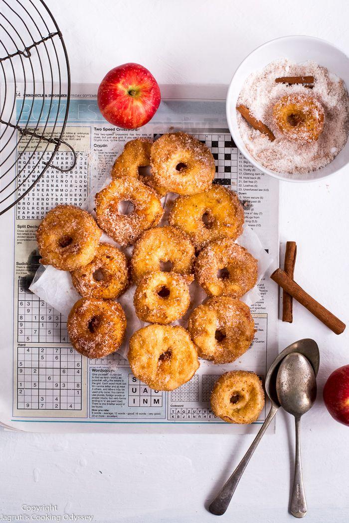 Air Fryer Apple Ring Doughnuts Recipe Food, Food