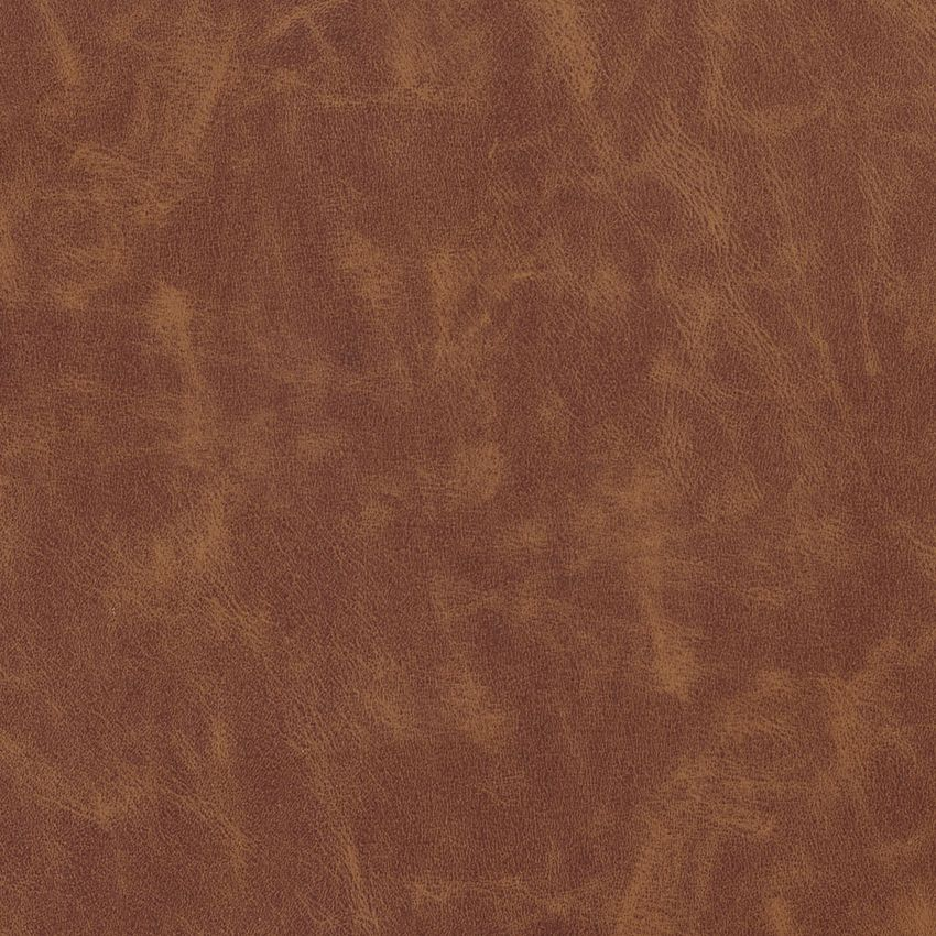 Saddle Brown Faux Cow Hide Leather Grain Soft Vinyl Upholstery