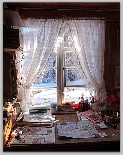 Fenster eines uralten Schwarzwaldhaus