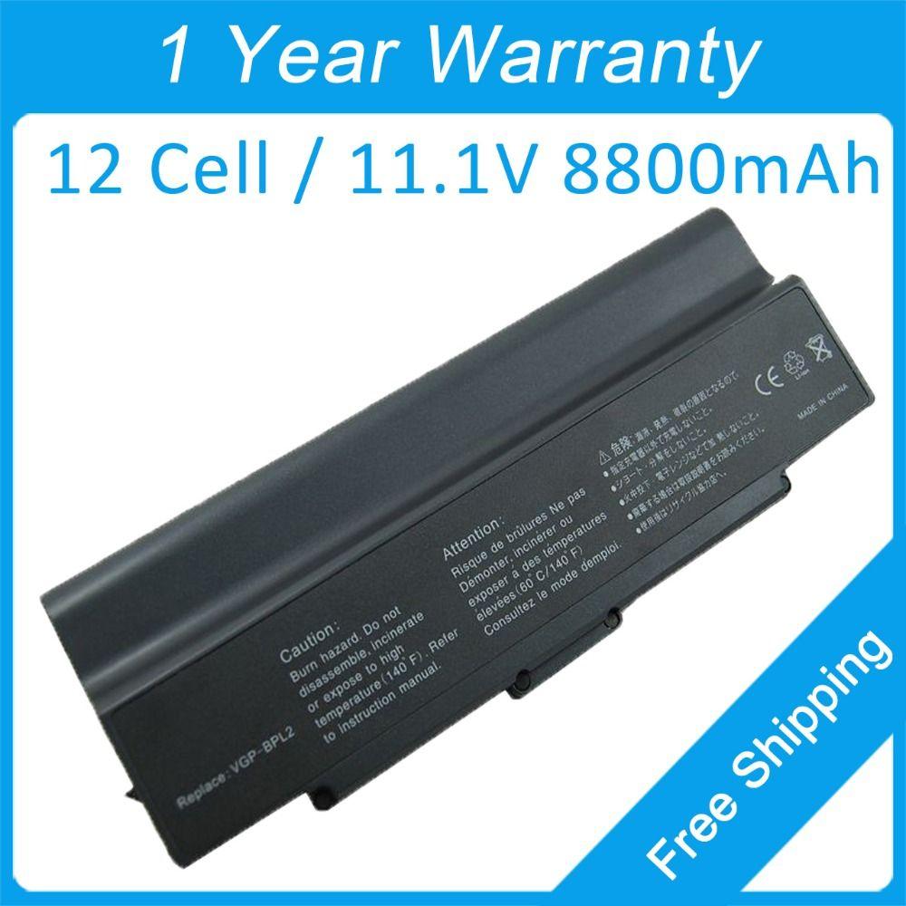 12cell Laptop Battery Vgp Bpl2c For Sony Vgn Ar90s Vgn Fj1s Vgn N230e B Vgn Ar92s Vgn Sz28cp Vgn Ar91ps Vgn Fj21b G Vg Laptop Accessories Laptop Battery Laptop