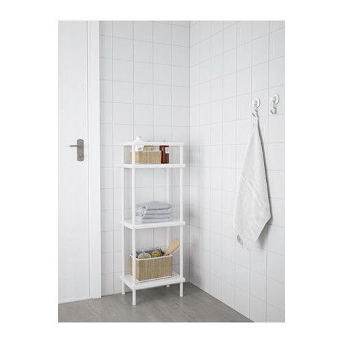 Dynan Shelf Unit With Towel Rail White 15 3 4x10 5 8x42 1 2 Ikea Towel Rail Shelf Unit Ikea