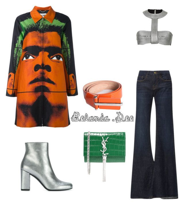 """""""Modernly groovy"""" by belanda-dee on Polyvore featuring Frame Denim, Moschino, Yves Saint Laurent, Dolce&Gabbana and modern"""