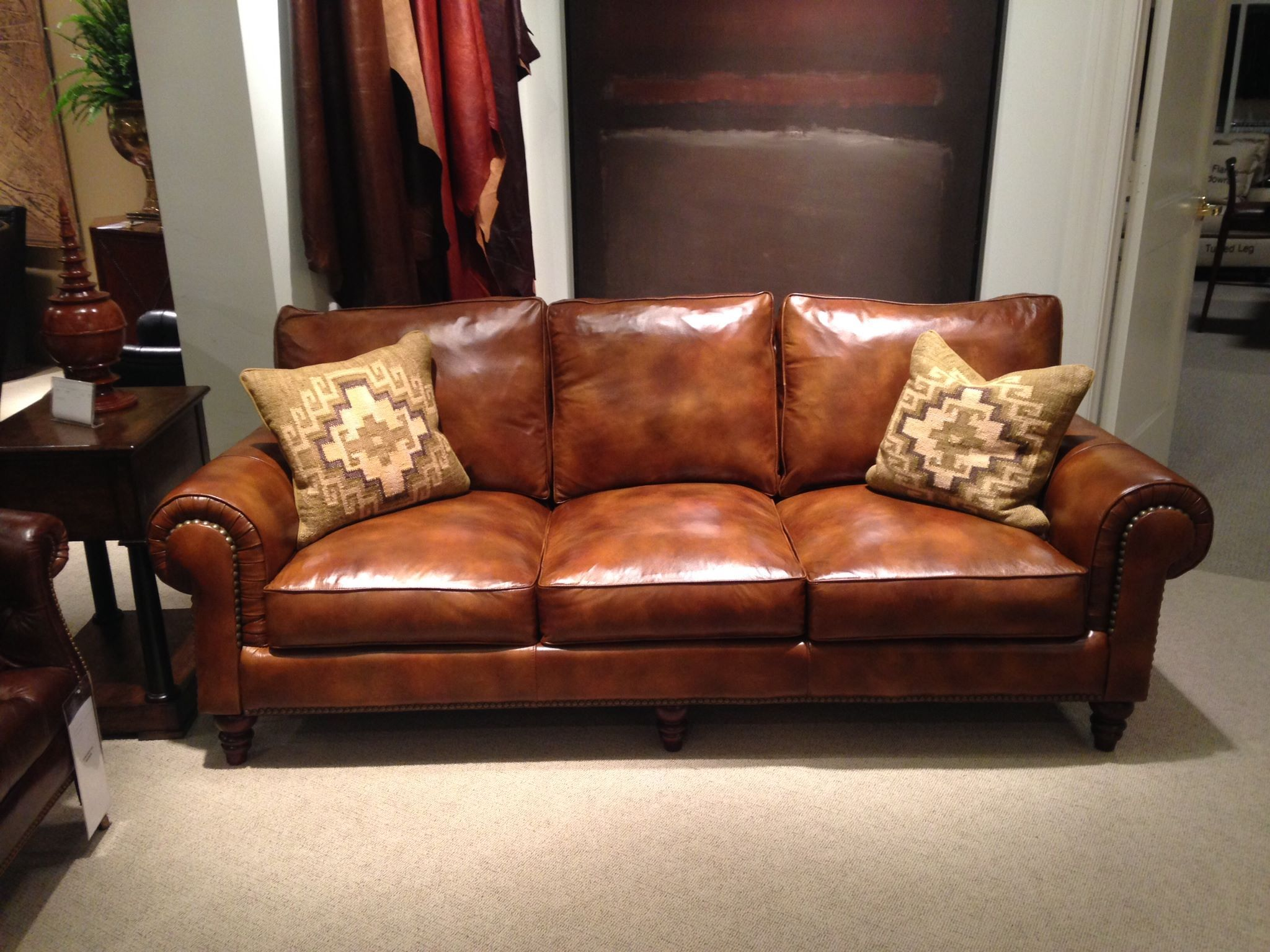 Superbe Henredon Leather Sofa In Mister Robert Furniture In Norman OK