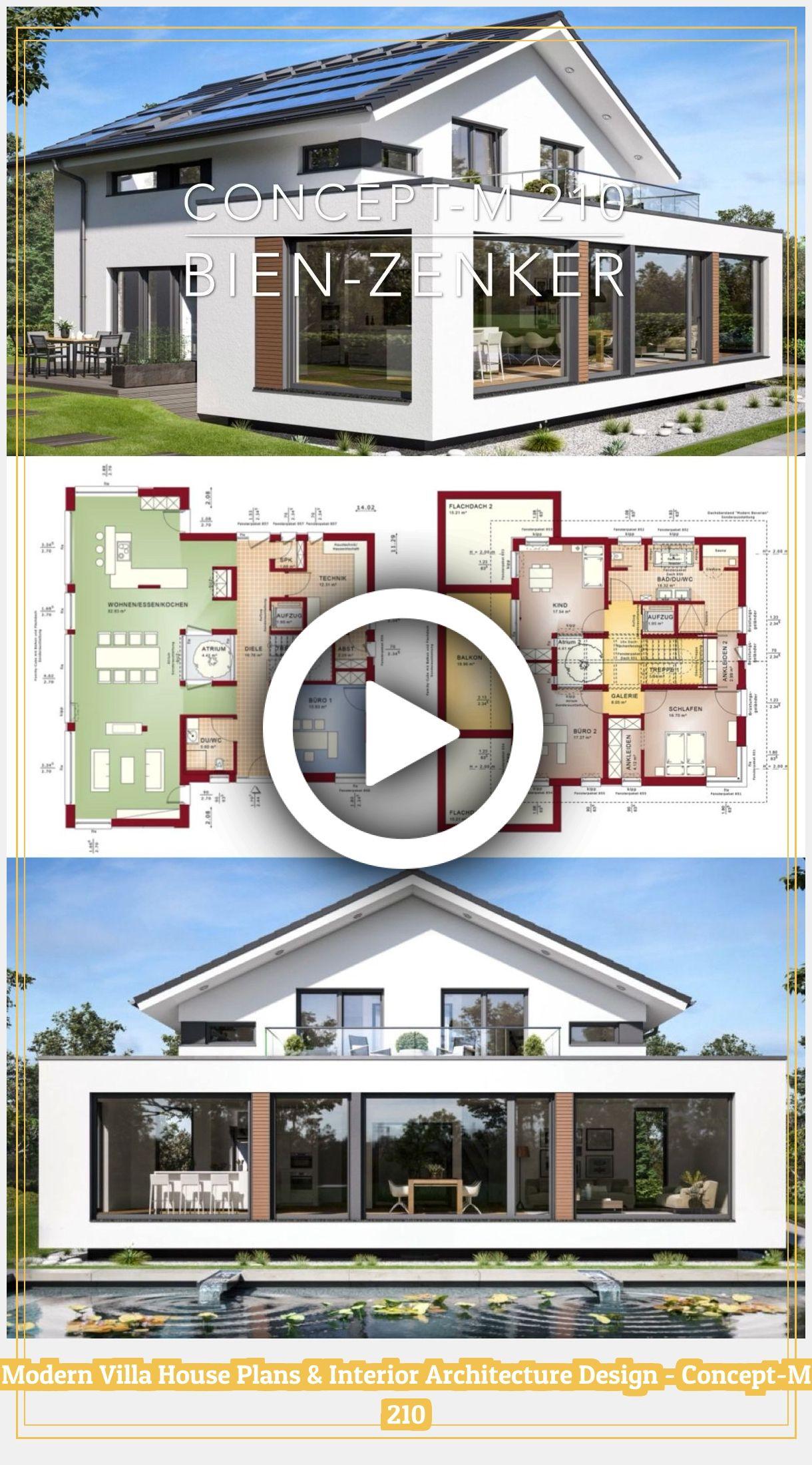 Modern House Plans 97684 Modern Luxury Villa Architecture House Plans Concept M 210 In 2020 Modern House Plans Architecture Design Concept Interior Architecture Design