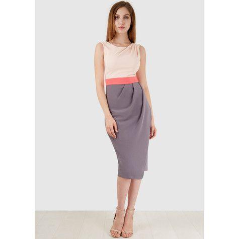The Closet Pink Drape Dress Online At Pamelascott Receive Free