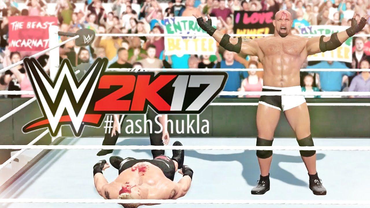 Wwe 2k17 Goldberg Vs Brock Lesnar Fall Count Anywhere Match Ps4 Gam Brock Lesnar Wwe Wrestling