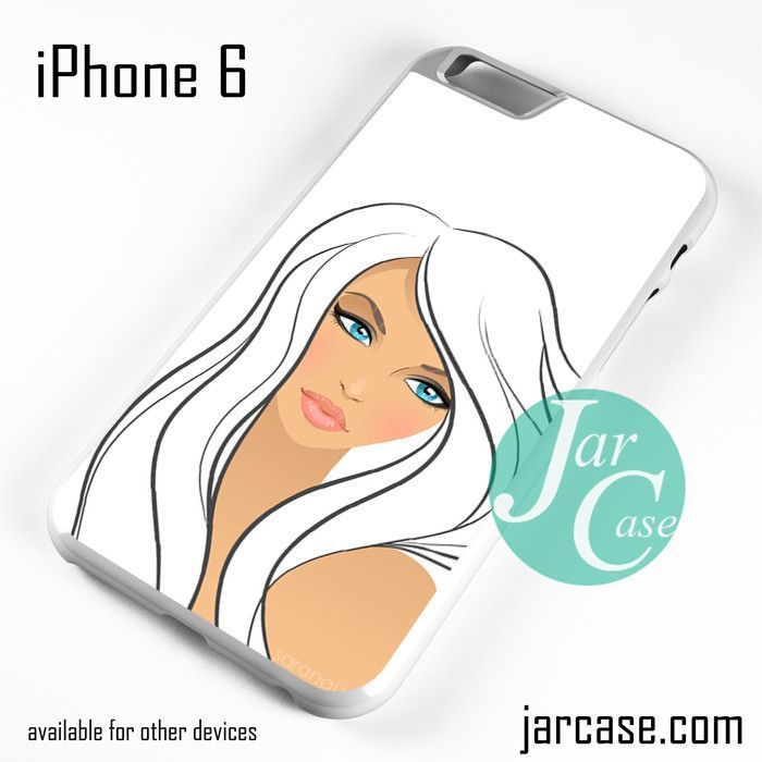 White Hair Girl Phone case for iPhone 6 and other iPhone devices