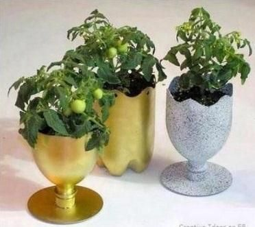 How To Make A Flower Pot From Waste Material Diy Recycle Reuse Waste Free Living Plastic Bottle Planter Reuse Plastic Bottles Diy Plastic Bottle