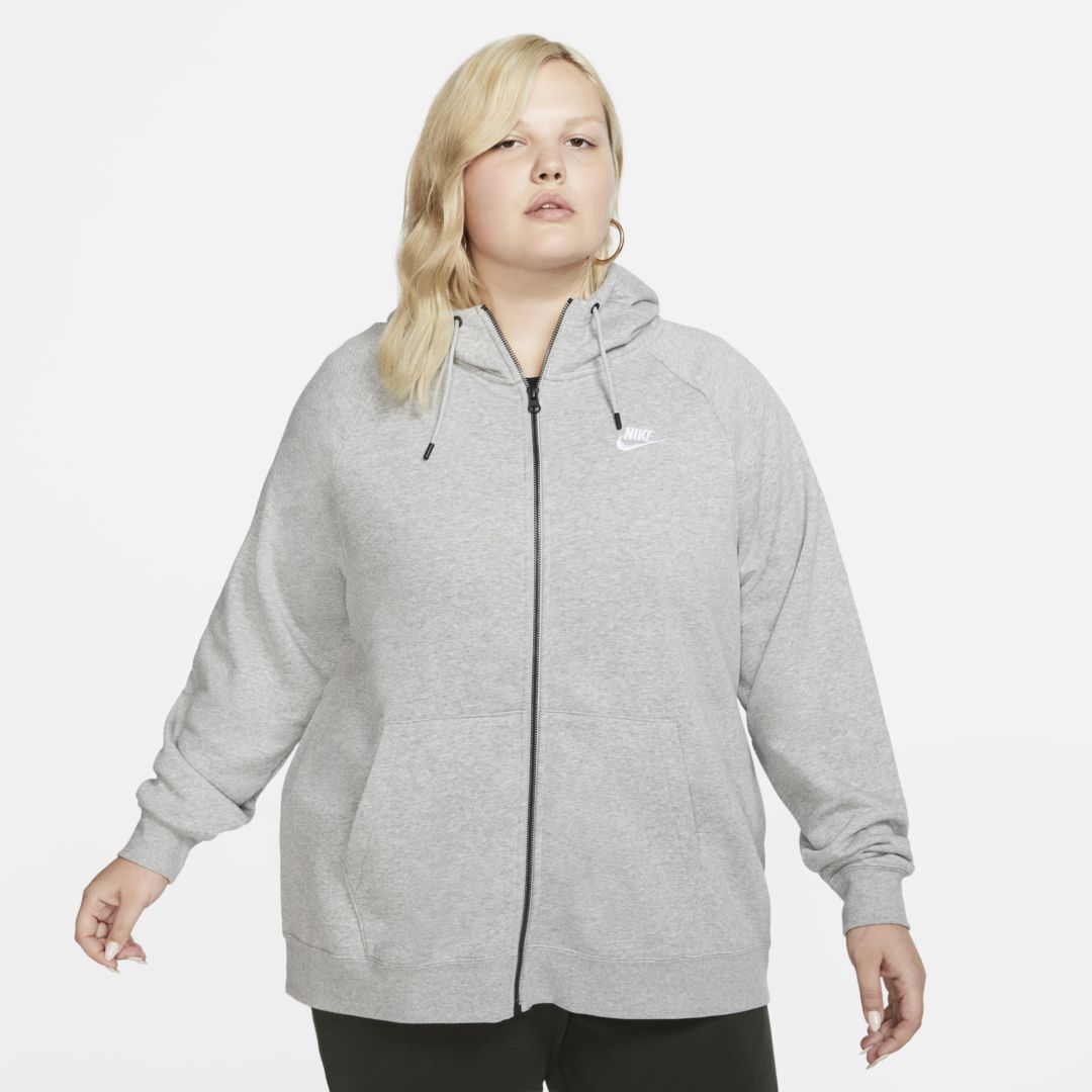 Photo of Nike Sportswear Essential (Plus Size) Women's Full-Zip Hoodie. Nike.com