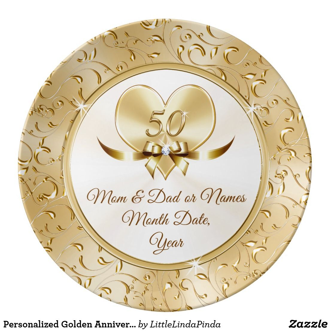 Personalized Golden Anniversary Gifts for Parents Dinner