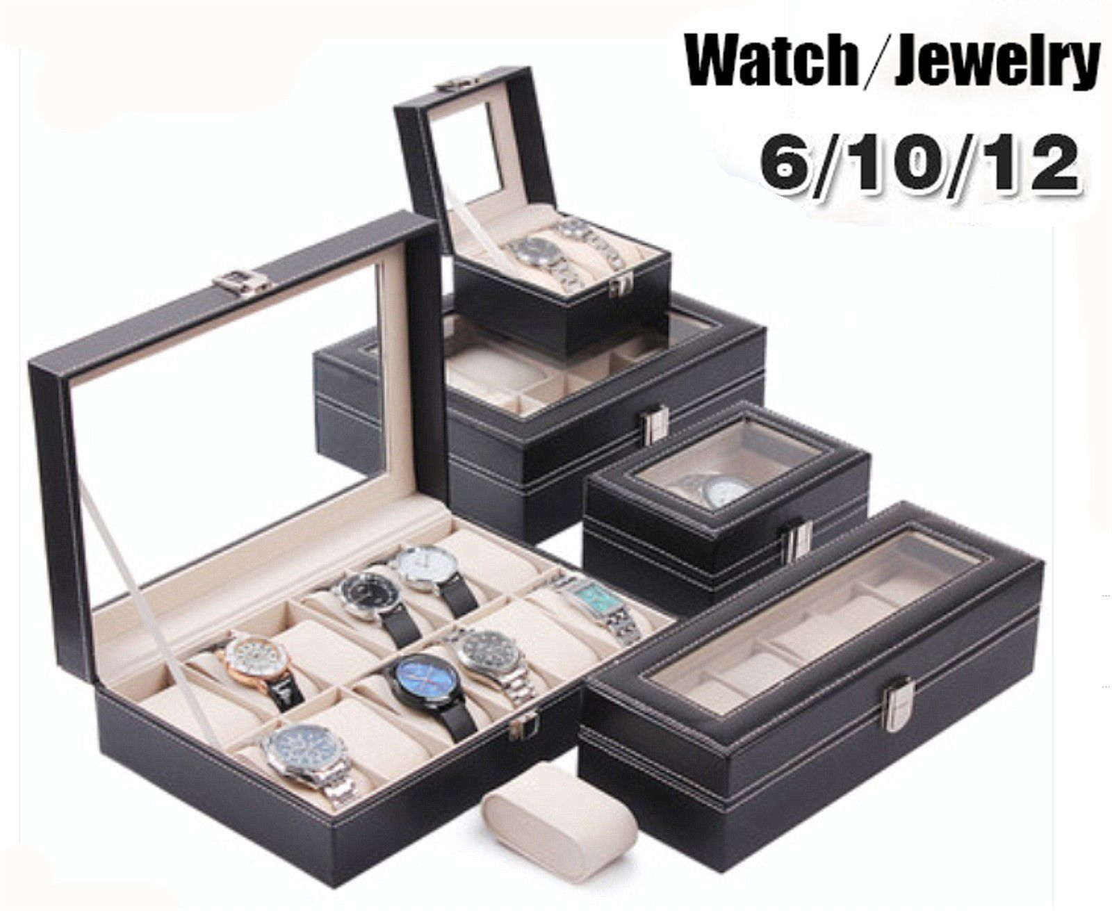 $198 Aud  Leather Watch Jewelry Display Storage Holder Case