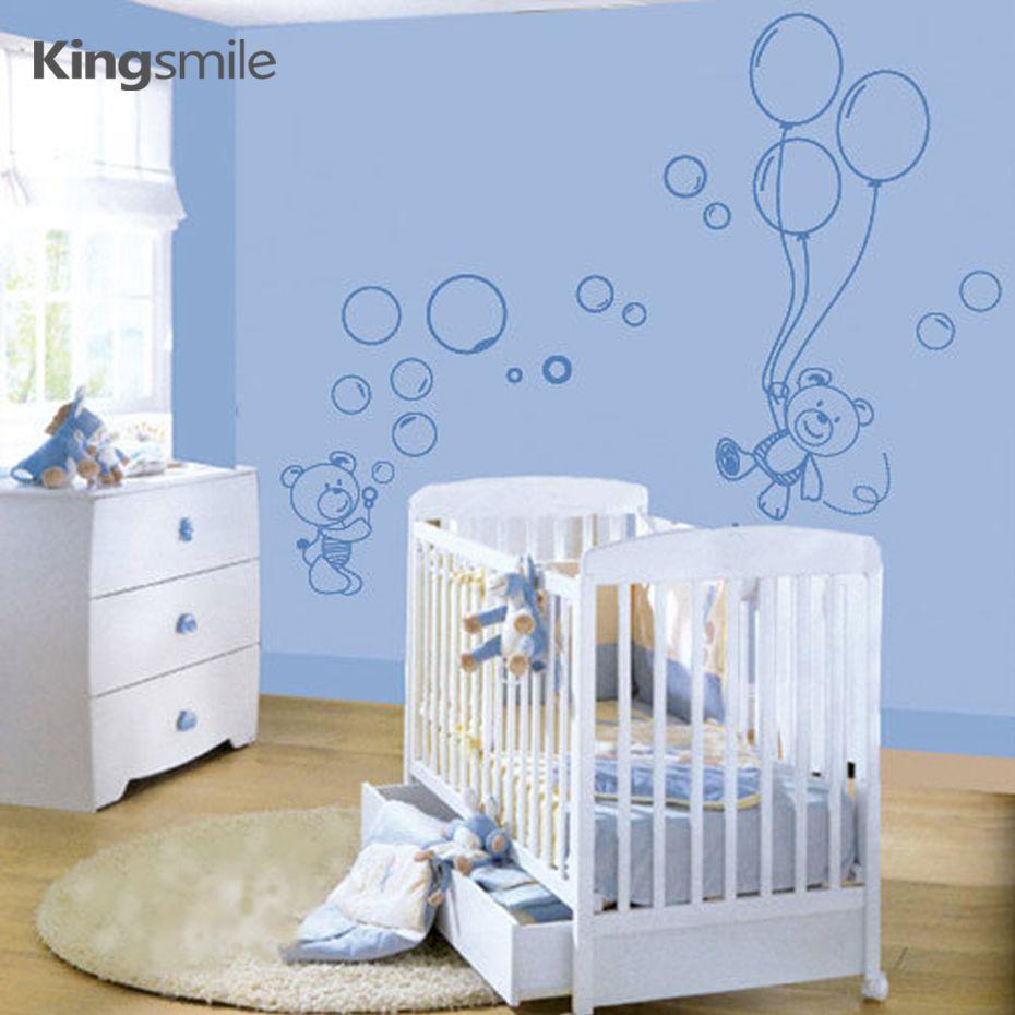promo modern little bears balloons nursery wall stickers on wall stickers stiker kamar tidur remaja id=35503