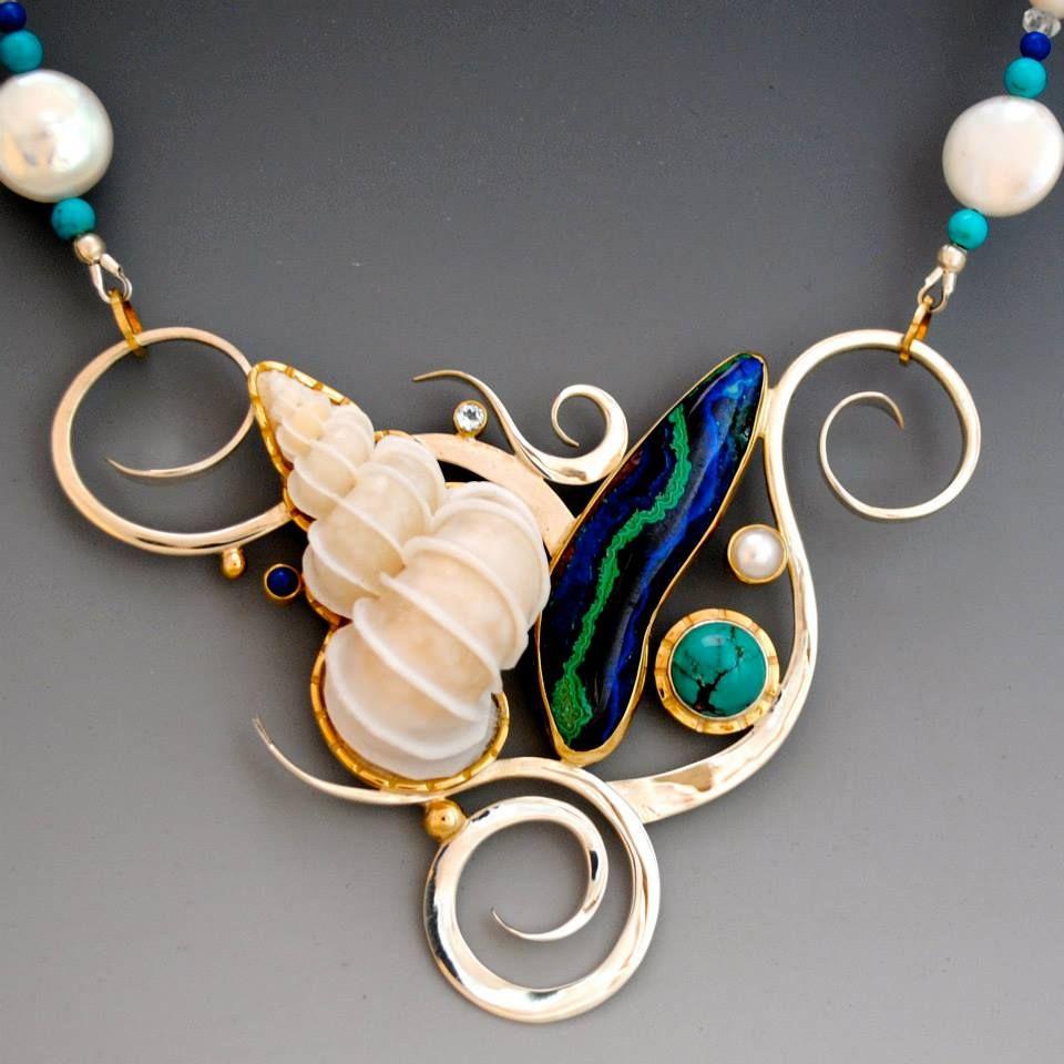Barbara Umbel Jewelry Design Seashell Nautical Necklaces