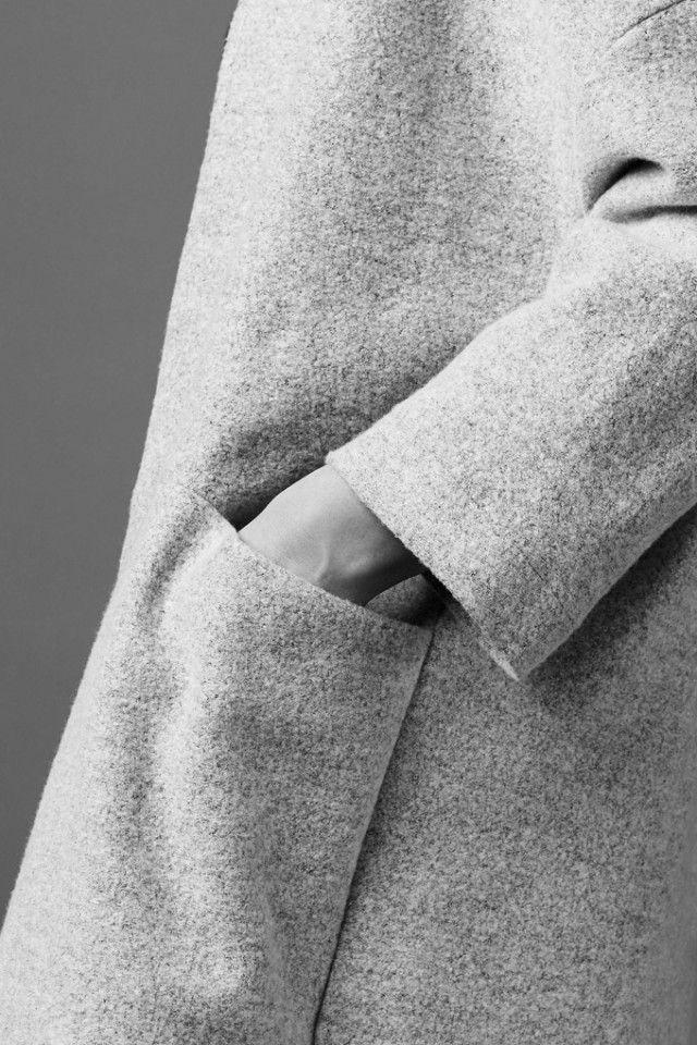 Coat with minimal pocket detail; understated style; chic minimalist fashion // Kloke A/W 2015