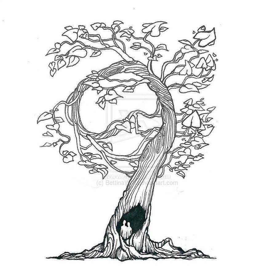 Little tree drawing by bettinamarson