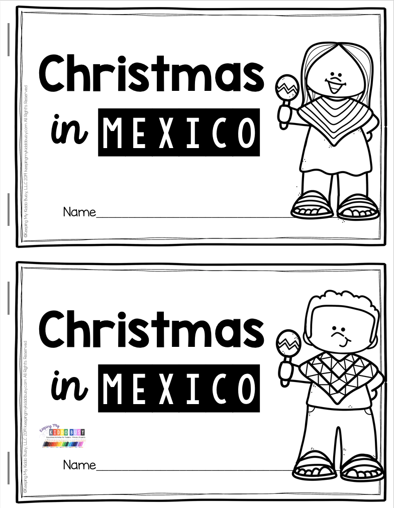 All About Christmas Free Activities Mexico Italy And Germany Keeping My Kiddo Busy Christmas Kindergarten Christmas Teaching Preschool Christmas