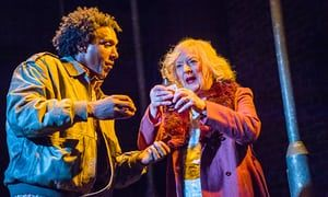 Living for the moment … Lemn Sissay and June Watson in John Tiffany's revival of Road at the Royal Court.