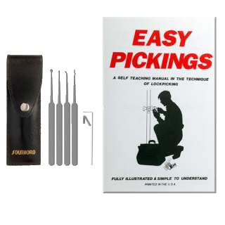 5 Piece Beginners Lock Pick Set with Booklet