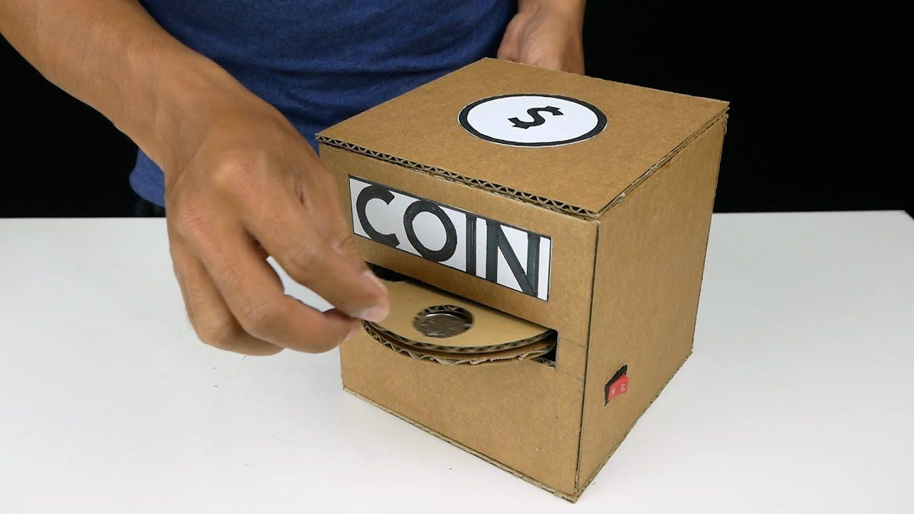 Amazing saving coin box from cardboard quickcrafter