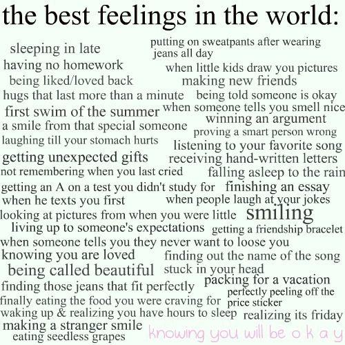 The Best Feelings!