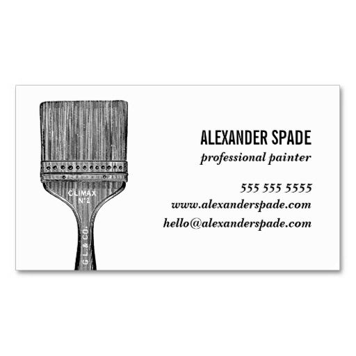 The New Cool Biz Card Painter Contractor Custom