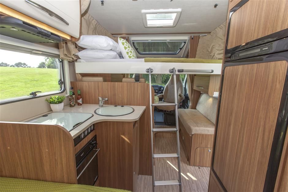 Inside Carado T348 Luxury Motorhome For Sale Drop Down Double Bed Means You Can Bring