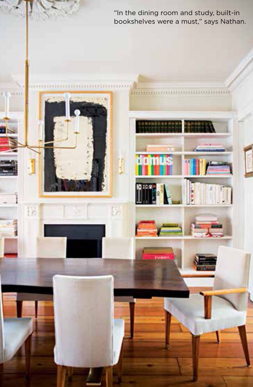 Peter Som CEO Elana Nathan\'s dining room in her NYC townhouse from ...