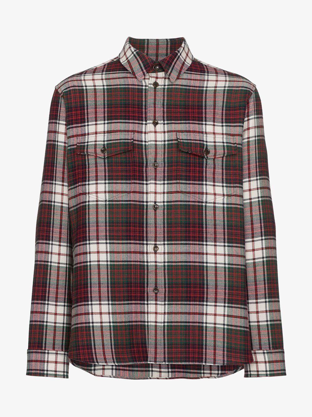 a3d851e3f Gucci Check Flannel Shirt