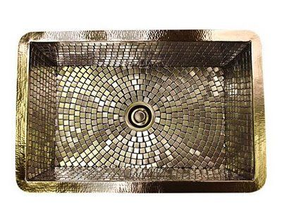 Stainless Steel Subway Tile on The Mosaic Pattern Of The Hand Laid Stainless Tiles Of A