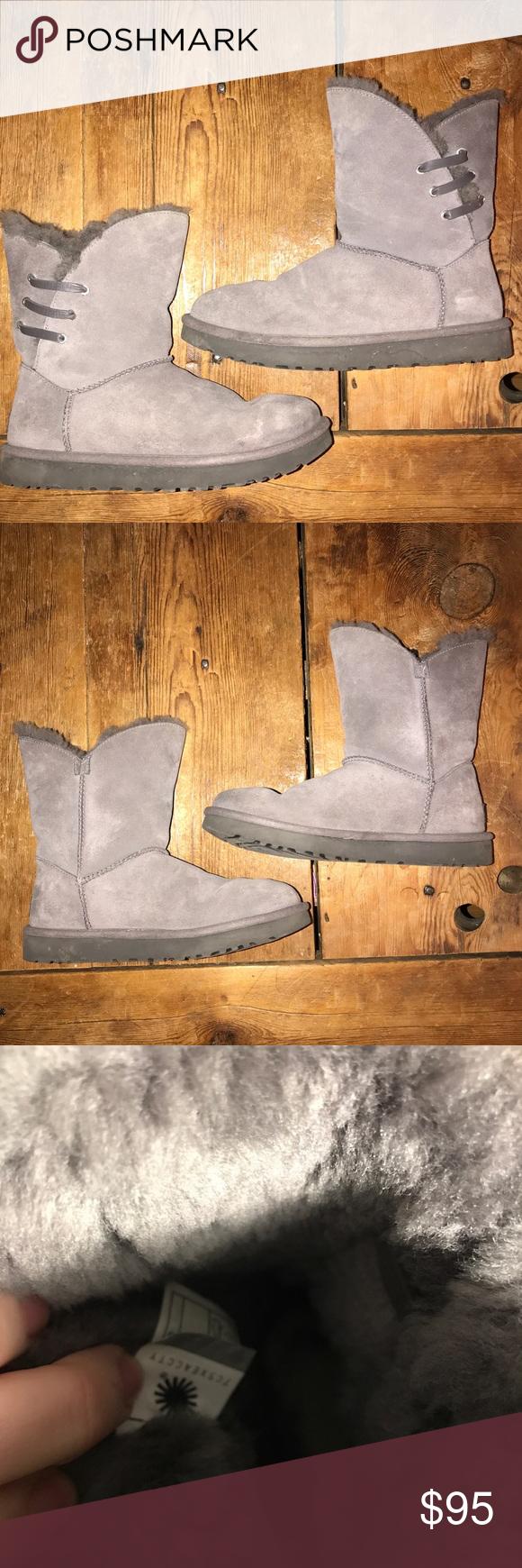 Women's Gray UGG Classic Short Boots Sz 9