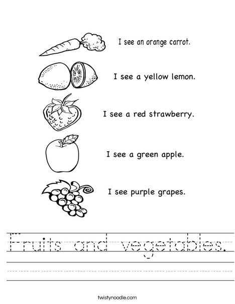 Fruits And Vegetables Worksheet Fruit Coloring Pages Vegetable Coloring Pages Coloring Worksheets For Kindergarten