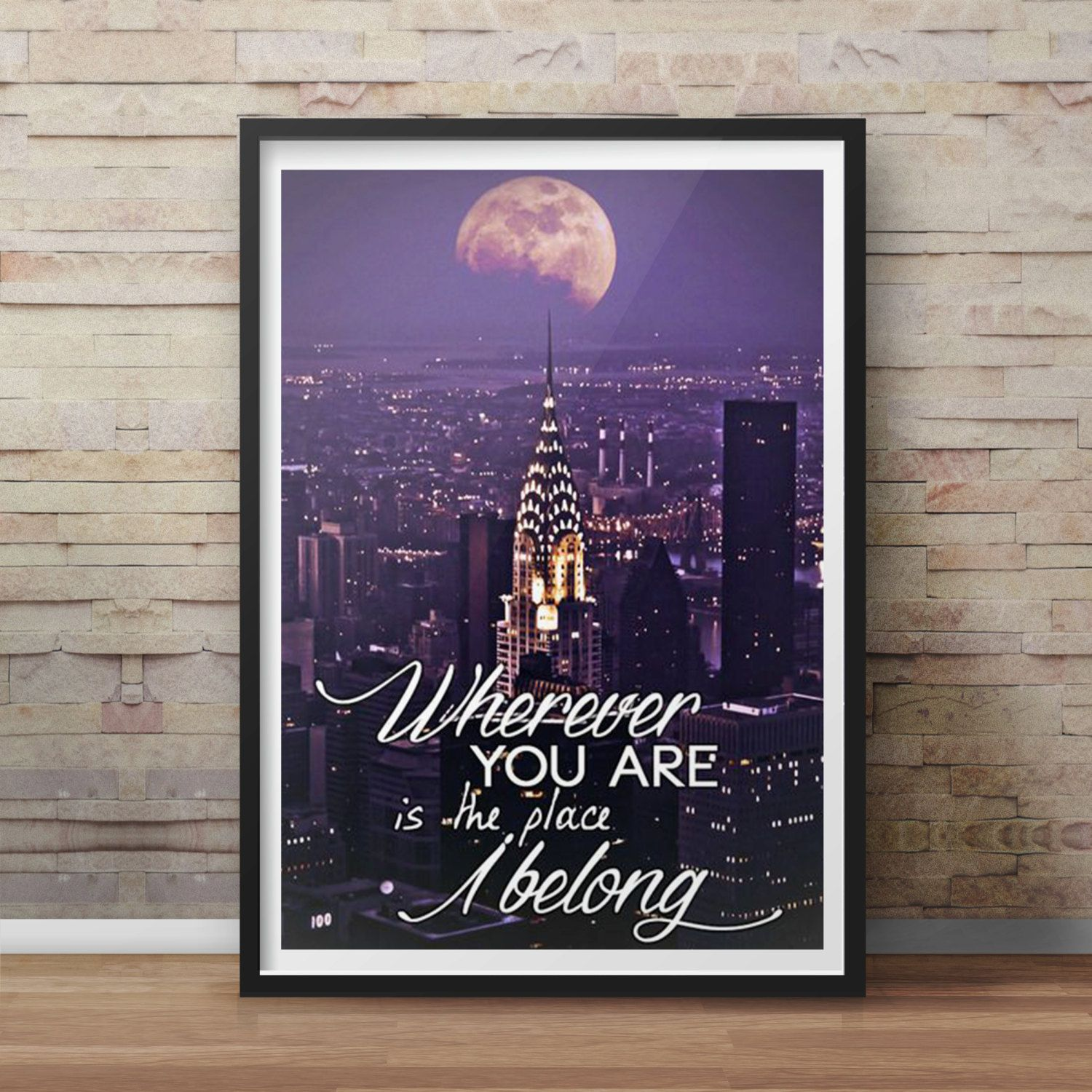 One Direction Lyric Quotes Posters Customized Poster Vibrant Art Wall White Paper Creates Free Laminating Bestheold