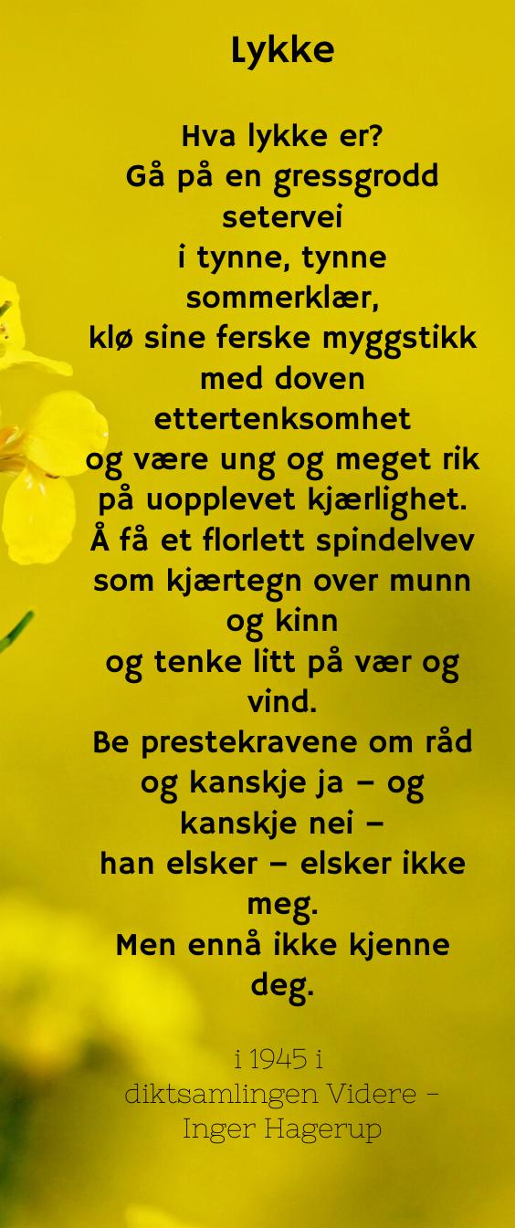 Lykke» av Inger Hagerup