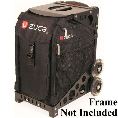 Zuca SIBO032 Sport Insert Bag Obsidian Black Logo Embroidery in Red White