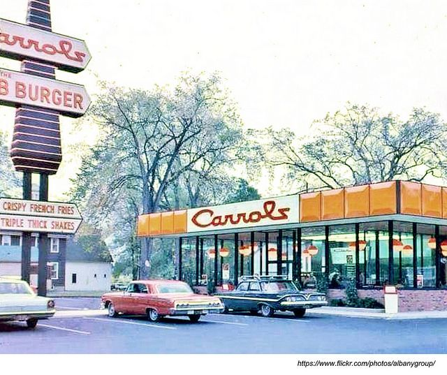 Carrols Fast Food On Central Ave Near Fuller Rd 1960s Albany Ny